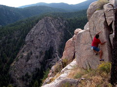 Rock Climbing Photo: Highlands Block, Boulder Canyon