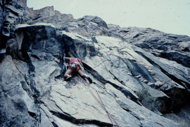 Rock Climbing Photo: Lower crux , roof pitch, Stratosphere