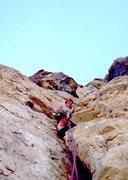 Rock Climbing Photo: The sharp, pegmatite, off-widths, Dragon Chimneys ...