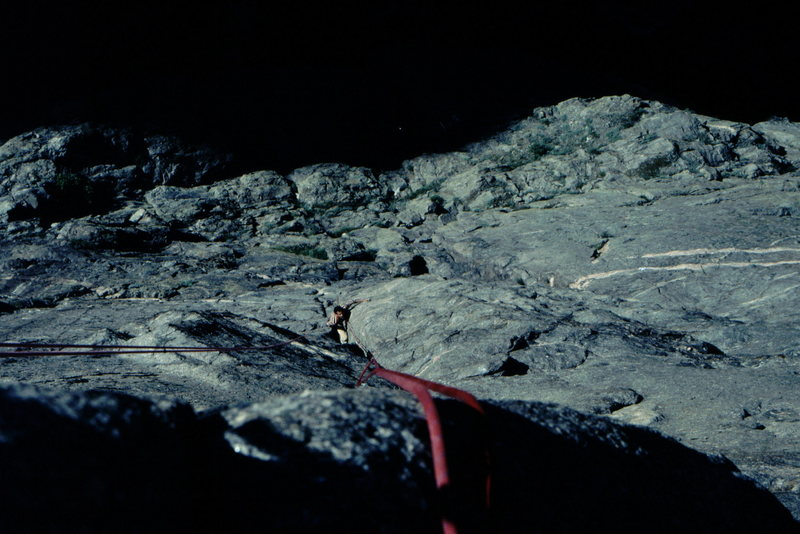Rock Climbing Photo: Adam Growsaski on the lower pitches of the Scenic ...