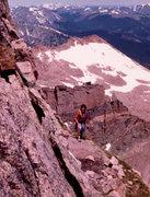 Rock Climbing Photo: Exiting Table Ledge, Diamond