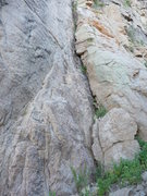 Rock Climbing Photo: An attractive crack at the right edge of the buttr...