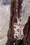 Rock Climbing Photo: The top of the Petite Greypond, RMNP