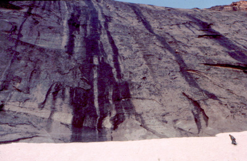 Rock Climbing Photo: Kick stepping to the base of the wall, Chief's Hea...