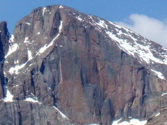 Rock Climbing Photo: The Diamond, RMNP