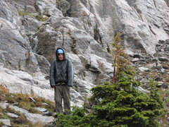 Rock Climbing Photo: Good to be down, could not be any wetter had I jum...