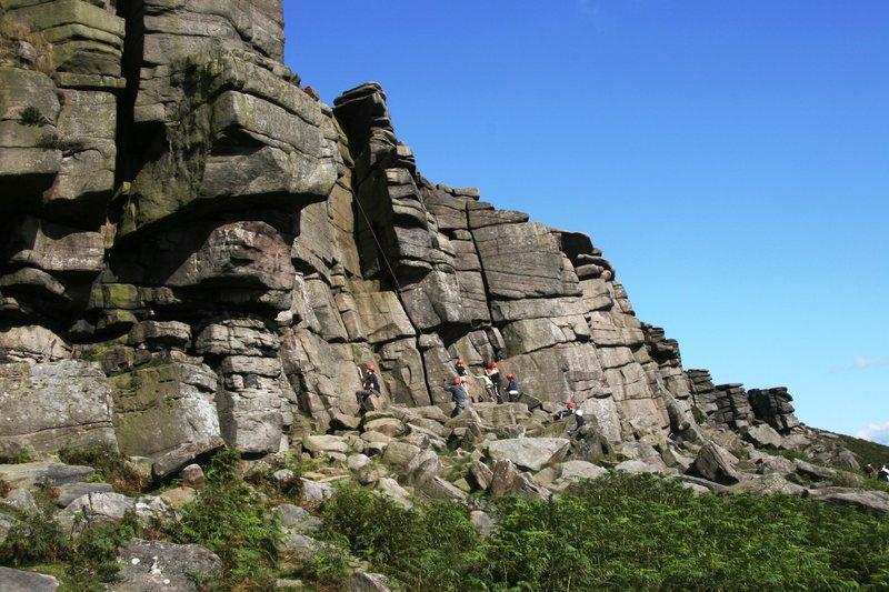Climbers on Manchester Buttress