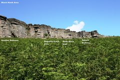 Rock Climbing Photo: Black Hawk Area (South) Overview