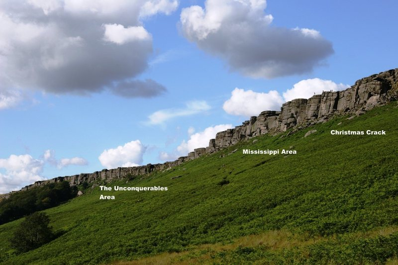 Rock Climbing Photo: Stanage South Overview