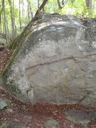 Rock Climbing Photo: The Pocket Problem just right of center, Pocket Le...