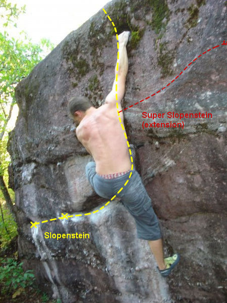 Rock Climbing Photo: Finishing up Slopenstein.  The big hold before the...