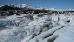 Rock Climbing Photo: The Brady Icefield with Mount La Perouse, Mount Cr...