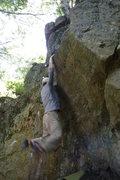 Rock Climbing Photo: Langlois cutting feet!