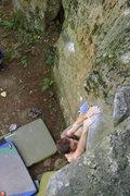Rock Climbing Photo: The Gentleman matching the sloper.