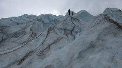 Climbing around on Reid Glacier