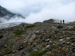 Rock Climbing Photo: The moraine to the left of the glacier front
