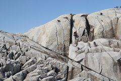 Rock Climbing Photo: Climbing in Xtra Tufs, the Alaskan way.