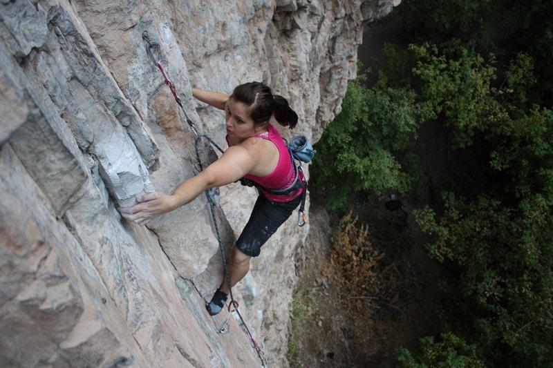 Rock Climbing Photo: sticking the throw