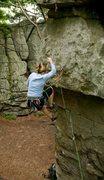 Rock Climbing Photo: Taking a small fall
