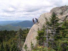 Rock Climbing Photo: Jay Harrison and John Juhl top-roping Cornerstone....