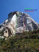 Rock Climbing Photo: Open Book Area Topo