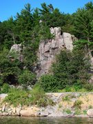 Rock Climbing Photo: Shot #2 of the French climbers at Railroad.  Augus...