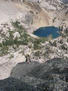 Rock Climbing Photo: Pitch 4's 5.5  slab.