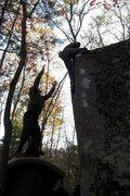 Rock Climbing Photo: ROLL!