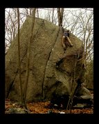 Rock Climbing Photo: Topping it out.