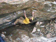 Rock Climbing Photo: Under Kingston peak, future bouldering area. ( so ...
