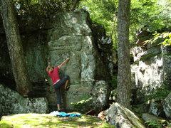 Rock Climbing Photo: V playing around