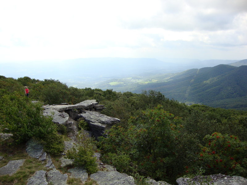 Rock Climbing Photo: View from Bald Knob, a short easy hike from the re...
