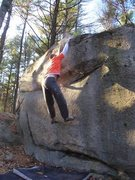 Rock Climbing Photo: Joe McLoughlin flailing on the dyno.