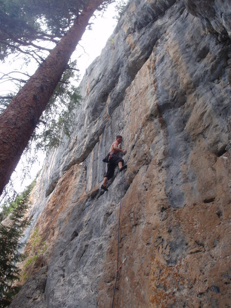 Rock Climbing Photo: Starting the crux sequence on Momentary Lack of Re...