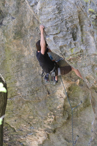 Rock Climbing Photo: S. Stine, climbing steady as usual.