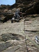 Rock Climbing Photo: FFA, Derek starting out P2.