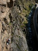 Rock Climbing Photo: Derek juggin' to our P3 high point.