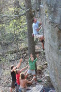 Rock Climbing Photo: Great spotting!! Photo by Travis Melin.