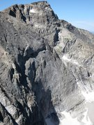 Rock Climbing Photo: The NE face of Chiefshead, with climbers on Cowboy...
