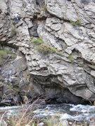 Rock Climbing Photo: Me reversing the Perverse Traverse.