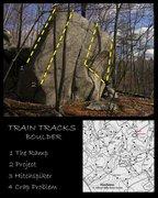 Rock Climbing Photo: Train Tracks Boulder.