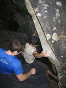 Rock Climbing Photo: Tryin to avoid the butt dab