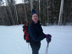 Rock Climbing Photo: The start of a moonlit ski.