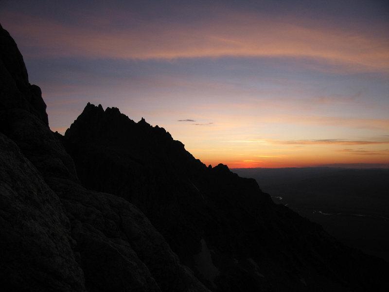 Rock Climbing Photo: Sunrise over Teewinot
