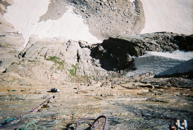 Rock Climbing Photo: Pat following the first 11a pitch off Crossover Le...