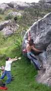 Rock Climbing Photo: a nice pic, look my litle uncle pablo doing like a...