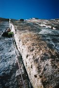 Rock Climbing Photo: Pat leading the pitch into the Dagger, which we fe...