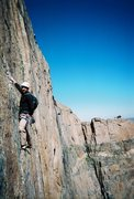 Rock Climbing Photo: Cassidy Hill on the Forrest Finish, taken from Bla...