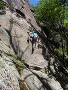Rock Climbing Photo: Jamie Macneil on the FA of Critical Crimps