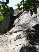 Rock Climbing Photo: Jamie McNeill leads the FA of Critical Crimps.